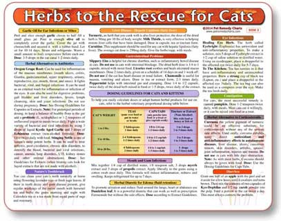 Herbal Remedy Chart for Cats