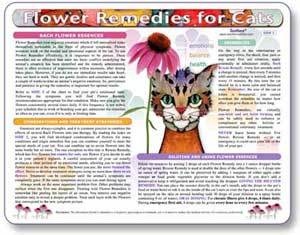 Flower essence treatment guide for cats.