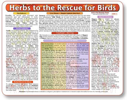 Herbal Medicine Chart for Birds