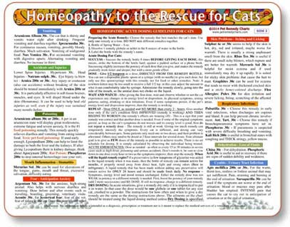 Homeopathic treatments and dosing guidlines for cats.
